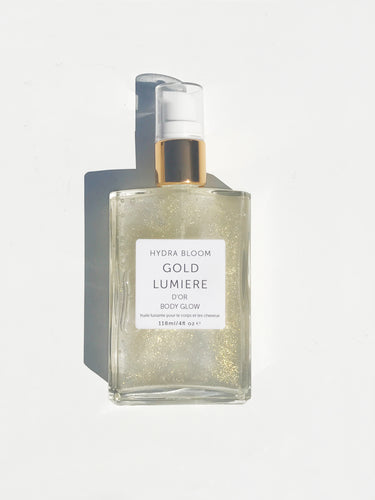 Hydra Bloom Gold Shimmer Oil - 118ml | Lucy B's