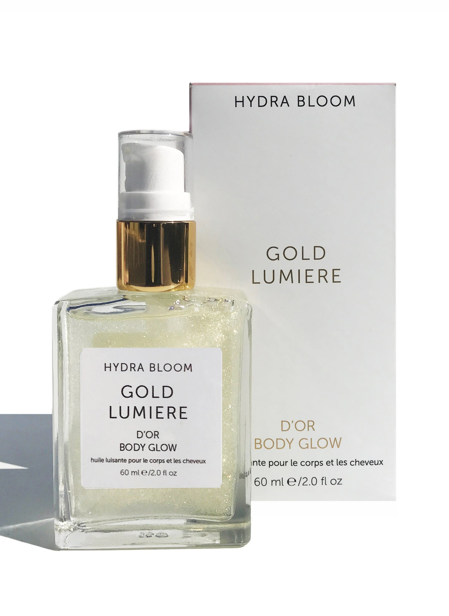 Hydra Bloom Gold Shimmer Oil - 60ml | Lucy B's