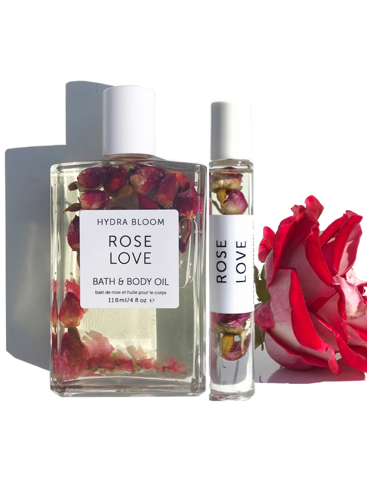 Rose Love Body Bath Oil & Rose Roll-on Perfume Oil