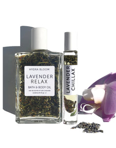 Lavender Relax Body Bath Oil & Lavender Chillax Roll-on Perfume Oil