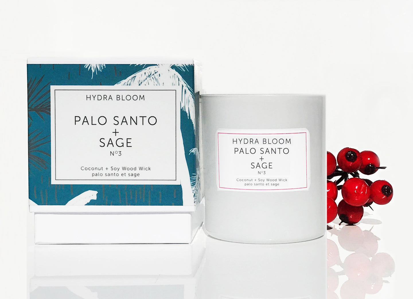Hydra Bloom Palo Santo + Sage Wood Wick Candle | Lucy B's