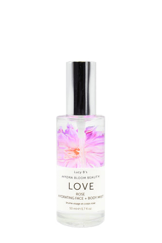 Hydra Bloom Love Rose Face and Body Mist - 50ml | Lucy B's