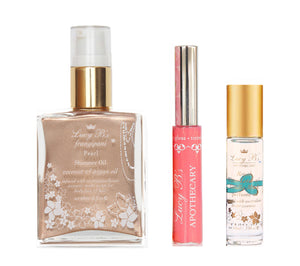 Pearl Shimmer 60ml, Pink Bikini Gloss and Water Lotus Roll-on  | Lucy B's (Includes Shipping!)