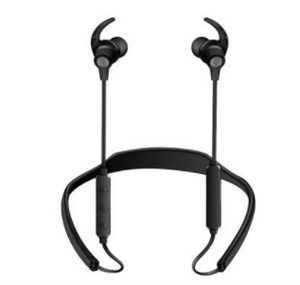 Workout Bluetooth Earphones Neckband with Mic - Black