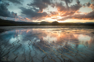 Fire In The Sky At Grand Prismatic Spring