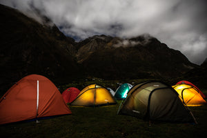 Camping In The Andes