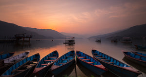 Sunset at Phewa Lake