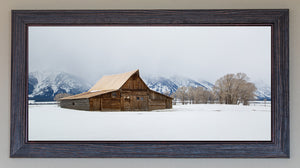 Winter At Moulton Barn FRAMED