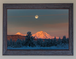 Moonset Over The Sisters FRAMED **SOLD**