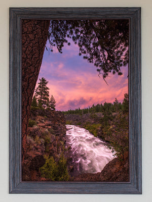 Sunset At Dillon Falls FRAMED