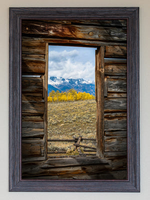 Window To The Tetons FRAMED