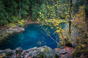The Blue Pool After A Fall Rain