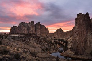 Brilliant Sunset at Smith Rock
