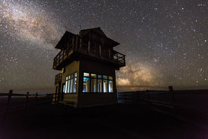 The Milky Way Over The Lava Butte Fire Tower