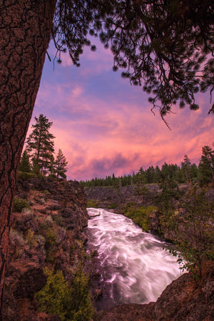 Sunset At Dillon Falls