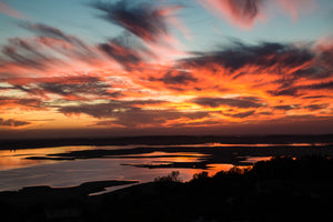 Fire In The Sky Over Folsom Lake