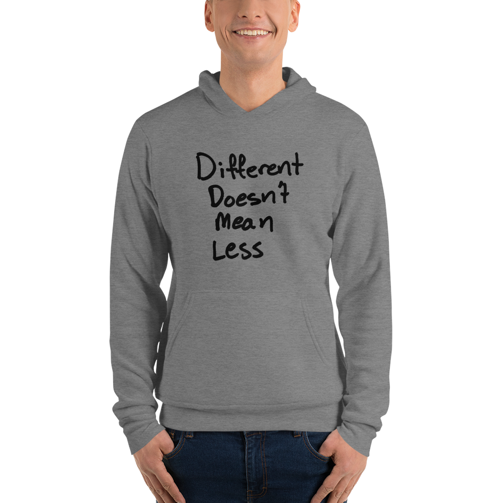 Different Doesn't Mean Less - Unisex hoodie