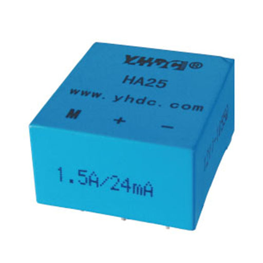 Hall closed loop current sensor HA25 Rated input ±10mA-5A Rated output ±24-25mA - PowerUC