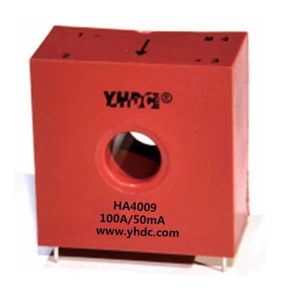Hall closed loop current sensor HA4009 Rated input ±20A/±50A/±100A Rated output 25mA 33.3mA 50mA - PowerUC