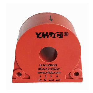 Hall closed loop current sensor HA2009 Rated input ±20A ±50A ±100A Rated output ±25mA ±33.3mA ±50mA - PowerUC