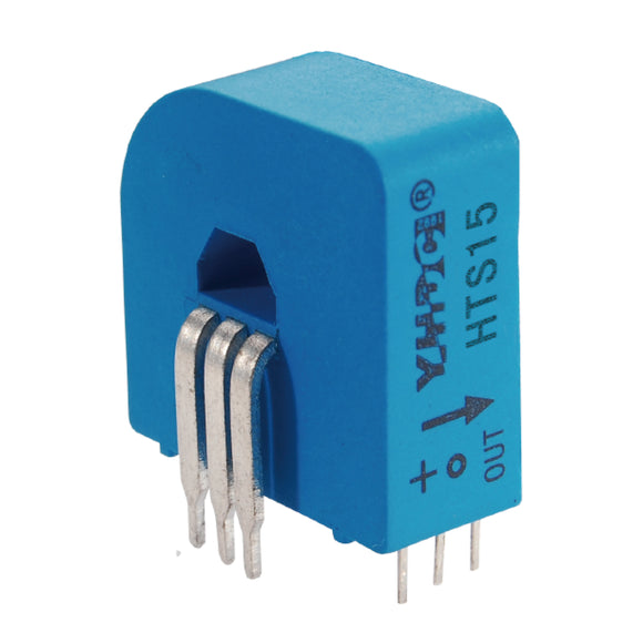 Hall closed loop variable range current sensor HTS15(-3) Rated input ±5A/7.5A/15A Rated output 2.5±0.625V/1.65±0.625V - PowerUC