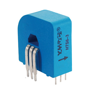 Hall closed loop variable range current sensor HTS6 Rated input ±6A Rated output 2.5V±0.625V - PowerUC