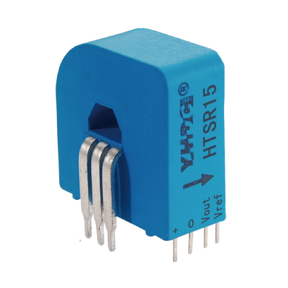 Hall closed loop variable range current sensor HTSR15-3 Rated input ±15A Rated output 1.65V±0.625V - PowerUC