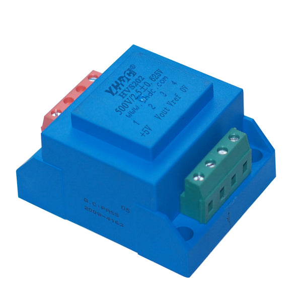 Hall voltage sensor HVS202 Rated input ±500V ±700V ±800V ±900V ±1000V Rated output 2.5V±0.625V
