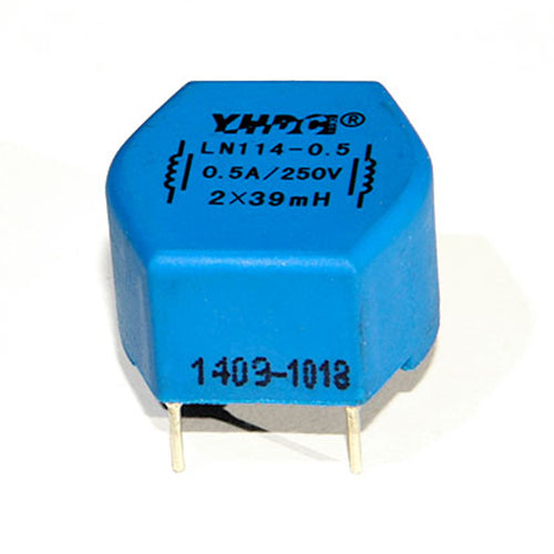 LN series common mode choke LN114 Rated current 0.3~4A DC resistance 1750~35mΩ