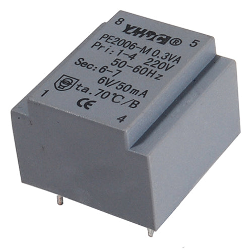 PE series PCB safety isolation transformer PE2006-M 230V   0.35VA - PowerUC
