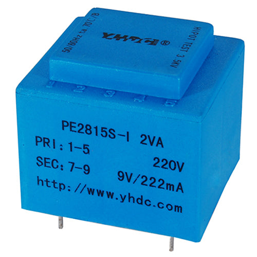 PE series PCB safety isolation transformer PE2815S-I 230V 2VA - PowerUC
