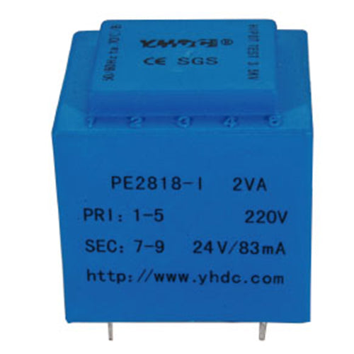 PE series PCB safety isolation transformer PE2818-I 110V/220V/230V 2VA - PowerUC