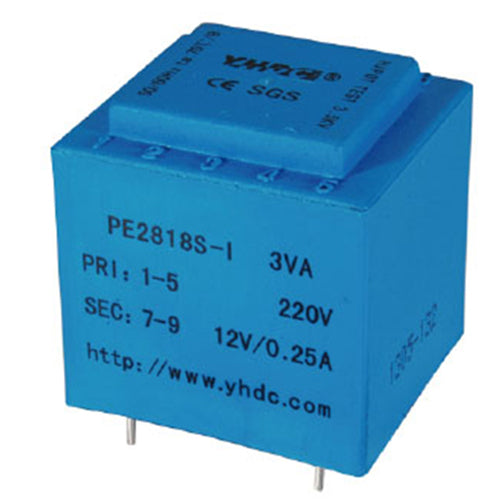 PE series PCB safety isolation transformer PE2818S-I 230V 3VA - PowerUC