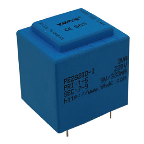 PE series PCB safety isolation transformer PE2820-I 230V 3VA - PowerUC