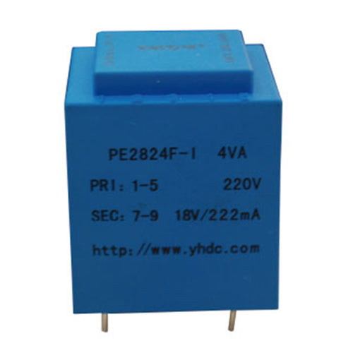 PE series PCB safety isolation transformer PE2824F-I 230V 4VA - PowerUC