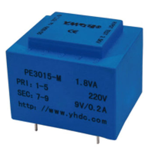 PE series PCB safety isolation transformer PE3015-M 230V 1.8VA - PowerUC