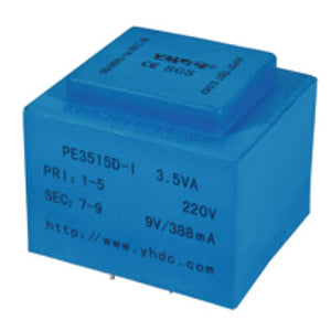 PE series PCB safety isolation transformer PE3515-I 110V/220V/230V 3.5VA - PowerUC