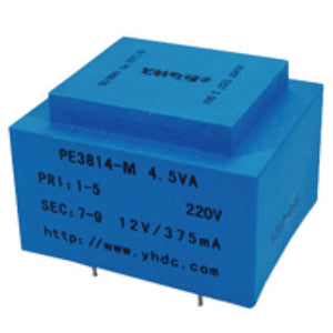 PE series PCB safety isolation transformer PE3814-M 110V/220V/230V 4.5VA - PowerUC
