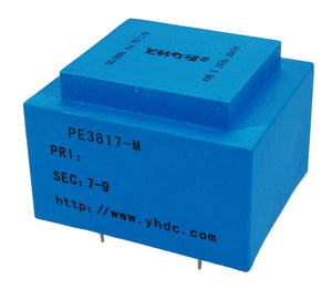 PE series PCB safety isolation transformer PE3817-M 110V/220V/230V  6VA - PowerUC