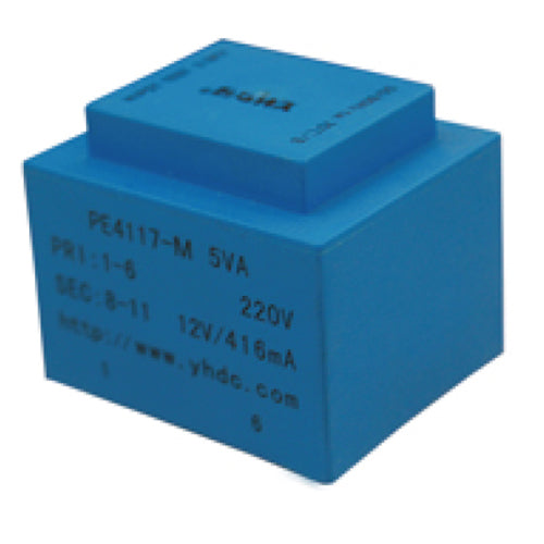 PE series PCB safety isolation transformer PE4117-M 230V 5VA - PowerUC