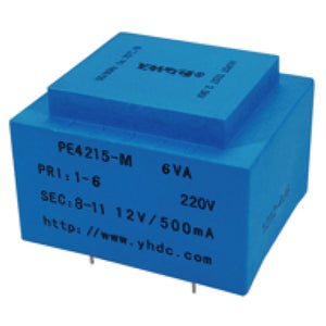 PCB safety isolation transformer PE4215-M 110V / 220V / 230V 6VA - PowerUC