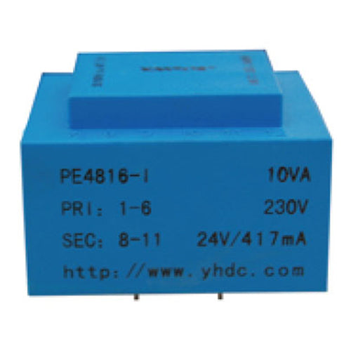 PE series PCB safety isolation transformer PE4816-I  230V  10VA - PowerUC