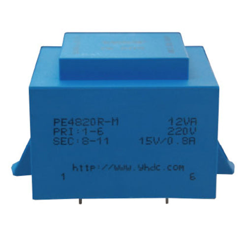 PE series PCB safety isolation transformer PE4820R-M 230V 12VA - PowerUC
