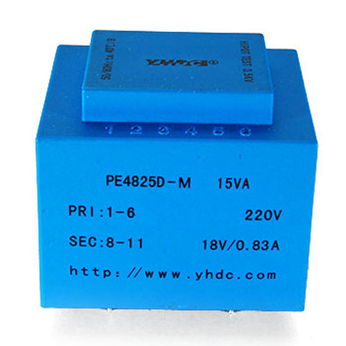 PE series PCB safety isolation transformer PE4825D-M  110V/220V/230V  15VA - PowerUC