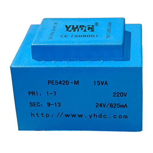 PE series PCB safety isolation transformer PE5420-M  230V  15VA - PowerUC