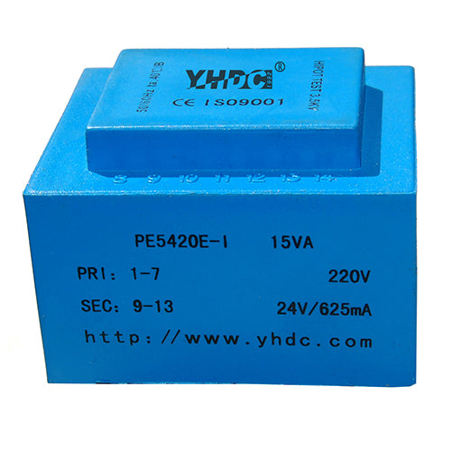 PE series PCB safety isolation transformer PE5420E-I  110V/220V/230V  15VA - PowerUC
