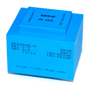 PE series PCB safety isolation transformer PE5424E-M  110V/220V230V  20VA - PowerUC