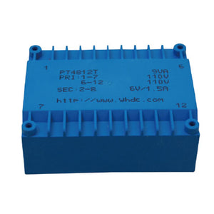 PT series flat type isolation transformer PT4812T 110V×2/115V×2  8VA - PowerUC