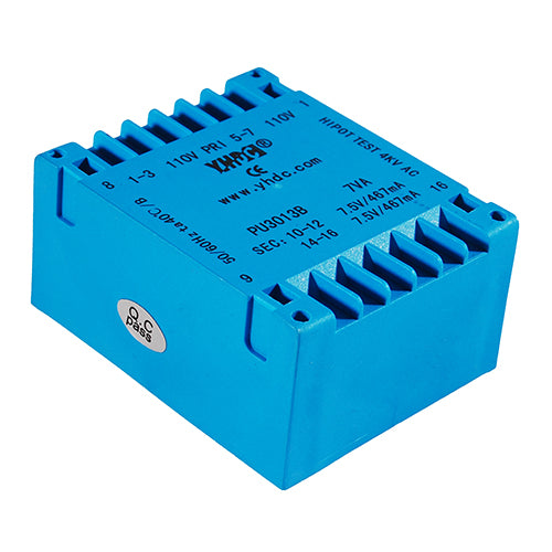 PU series flat type isolation transformer PU3013B 110V×2/115V×2 8VA - PowerUC