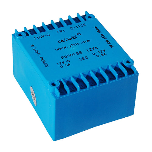 PU series flat type isolation transformer PU3018B 110V×2/115V×2 10VA - PowerUC